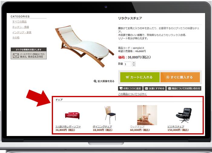 商品詳細ページに関連商品を表示