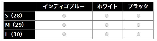 「オプション表形式」をカスタマイズ